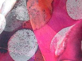 Spotty; silk organza