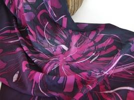 Tussock shawl; heavy crêpe de Chine