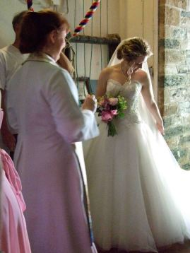 A bride arrives in the tower