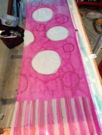 One layer of dye, second layer of wax
