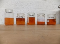Comparing exhaust dye density after removing fleece
