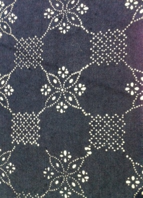 Hungarian fabric resist-printed and indigo-dyed seen at Tracing the Blueprint