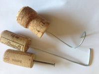Simple wax tools made from cork, wire and nails