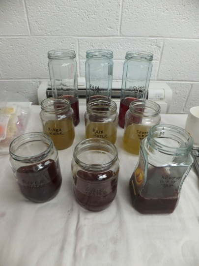 Three dyes, three water sources