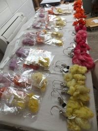 Samples from four dye sessions. Labelling and storing accurately is vital