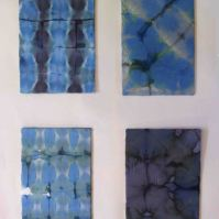 Four different shibori samples