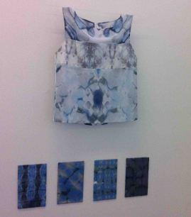 Vest and shibori samples