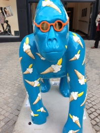 The blue gorilla: one of a series currently stalking Exeter