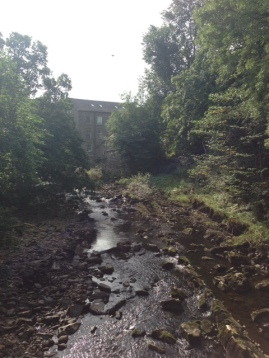 View of the mill and mill stream