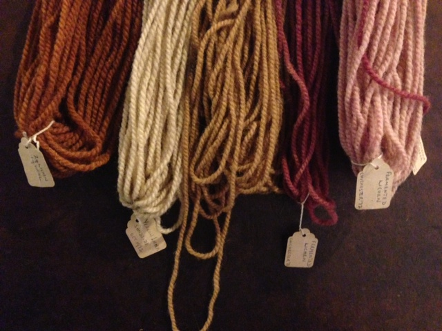 Lichen dyed yarns in historical display