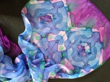 Shibori: clamped resist with steam-fixed dyes