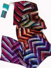 Prototype scarf for the Zig-Zag series