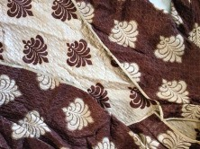 Detail of silk reversible jacket: I used to wear this in the 60s as an art student
