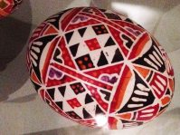 Resist-dyed egg, Pitt Rivers Museum. Galicia (Poland /Ukraine)