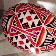 Resist-dyed egg, Pitt Rivers Museum. Galicia (Poland /Ukraine)