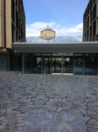 Entrance to Mathematical Institute, Oxford