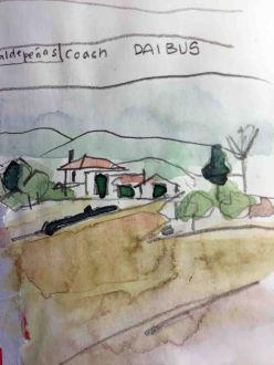 Motorway sketch, Valdepeñas