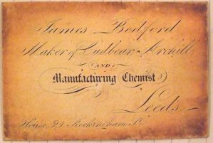 Pre 1842 visiting card